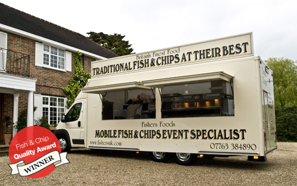 Catering Vans For Sale >> Fishers - Food on the move, Mobile Fish and Chip Catering in Surrey, South London and Sussex regions